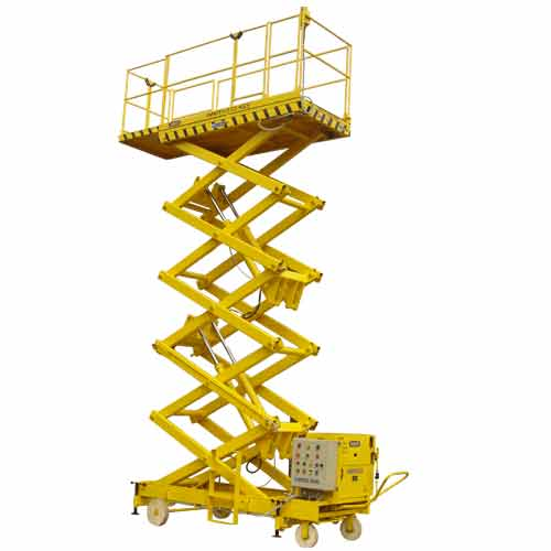 JET Hydraulic Mobile Powered Lifting Platform Goods Lift