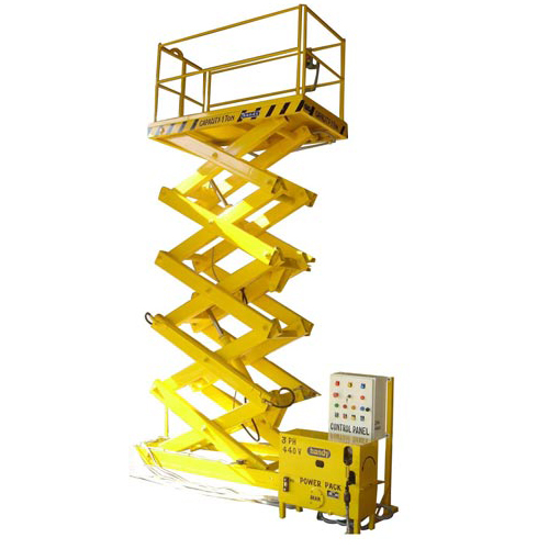 JET Powered Lifting Scissor Platform (Fixed Type) Goods Lift