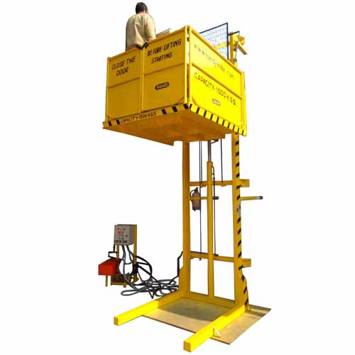 Wall Mounter Hydraulic Powered Goods Lift